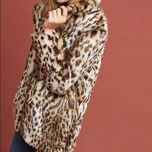 Anthropologie Marrakech Mirabeau Leopard Coat